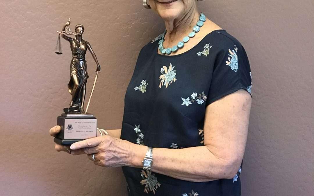 Becky Ruffner Receives the Arizona Bar Association's Terry Chandler Award